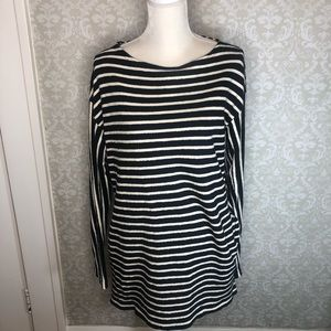 Free People Intimately Dress Striped LS pockets S